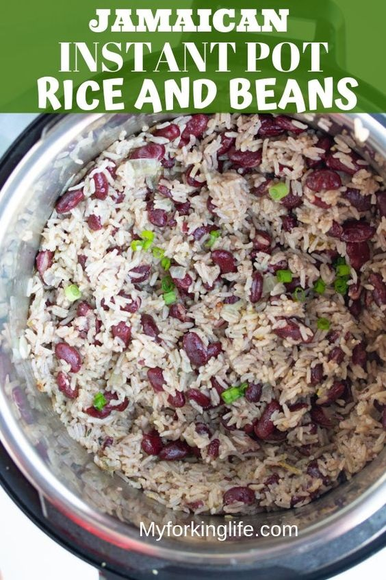 Jamaican Instant Pot Rice And Beans