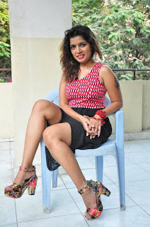 Actress Loukya Stills At 7 to 4 Movie Release Press Meet  0042