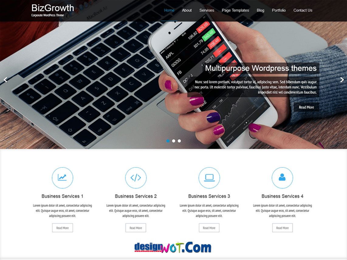 BizGrowth Responsive WordPress Theme