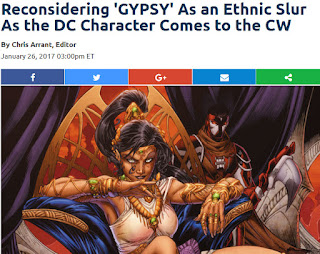 http://www.newsarama.com/32801-reconsidering-dc-s-gypsy-name-as-a-racial-slur-in-light-of-her-upcoming-debut-on-cw-s-the-flash.html