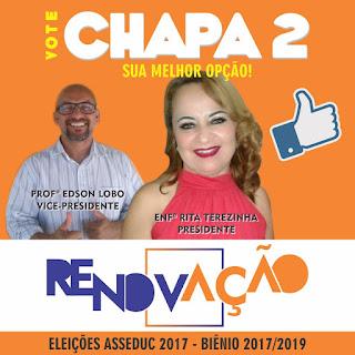 Chapa 2 Renovação - Enfermeira Rita e Professor Edson