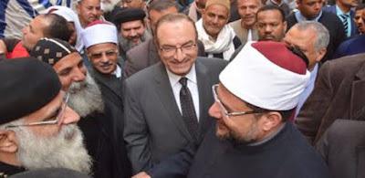 مختار جمعة وزير الأوقاف و قساوسة بنى سويف يشاركون فى افتتاح مسجد الشاذلى
