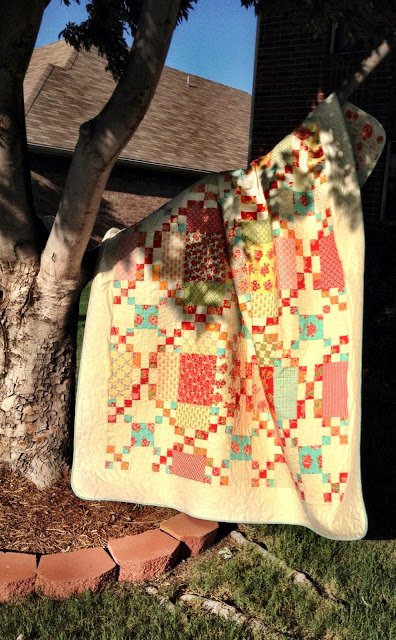 Marmalade Circles Quilt designed by Cindy Sharp from Tops to Treasures for Moda Fabrics