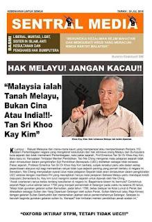 Prof KKK dan sound lama dah tapi bangsa DAP tetap degil