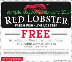 free Red Lobster coupons for february 2017