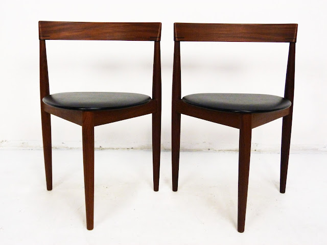 Frem Rojle Danish Modern Teak three leg chair