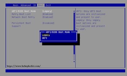 Sesuaikan Pengaturan BIOS