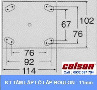 kích thước kiểu lắp Khóa sàn xe đẩy Colson Floor Lock Brake tổng chiều cao 169mm | 6253x5 wwwbanhxedaycolson.com
