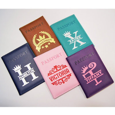 Customized passport holder /cover with name printed