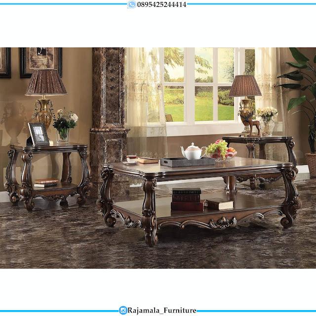 Sofa Tamu Mewah Jati Natural Classic Luxury Furniture Jepara RM-0513