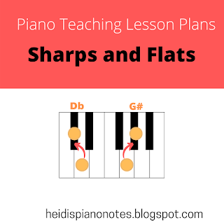 #Piano Teaching Lesson Plans, #Teaching Sharps and Flats