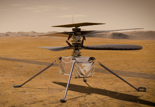 NASA depiction of the Mars Ingenuity helicopter