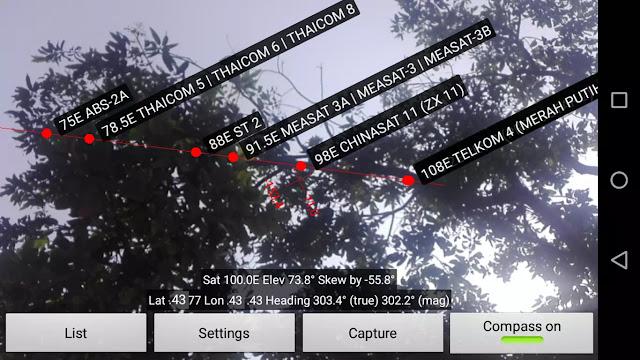 tracking Chinasat 11 dengan aplikasi android