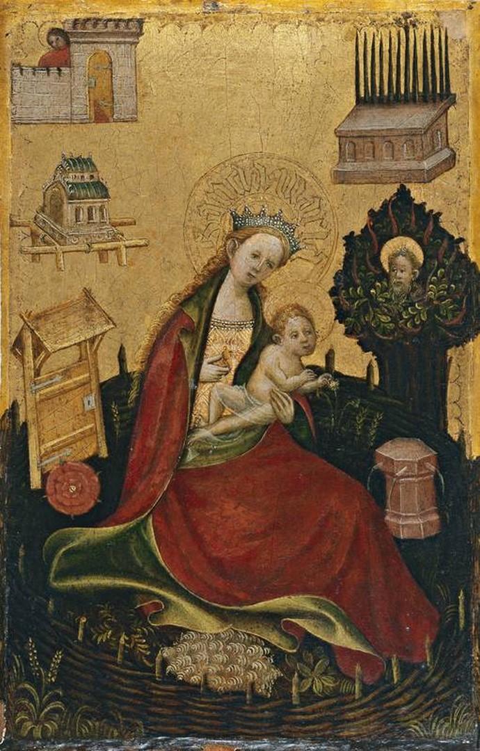anónimo alemán | La Virgen y el Niño en el hortus conclusus, c. 1410