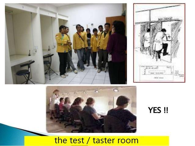 taster room food quality assessment