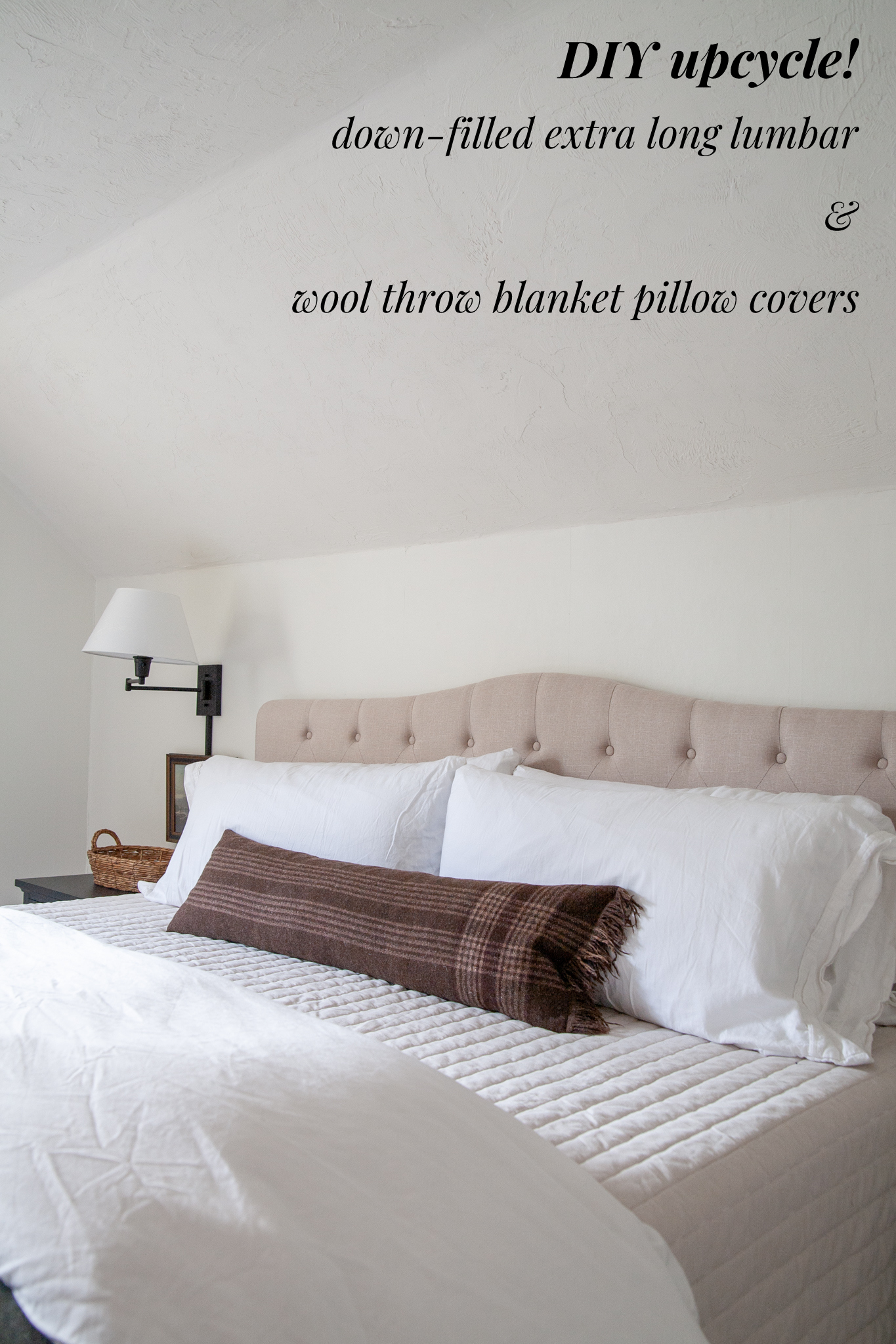 plaid wool blanket throw pillow diy and