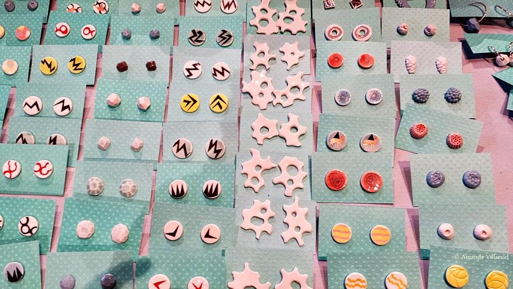 Lovely porcelain earrings by the Norwegian designer Maria Ianke