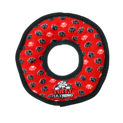 Durable dog toy for fetch, tug and Frisbee games