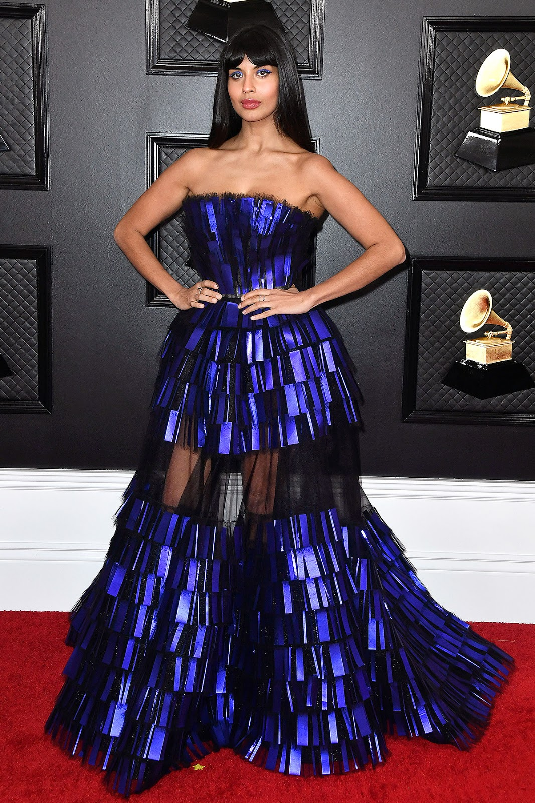 Jameela Jamil In Georges Chakra Couture – 2020 Grammy Awards