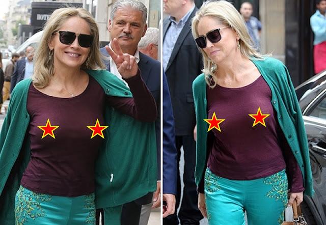 Sharon Stone com roupa transparente (Imagem: Reprodução/Internet)