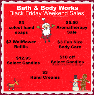 Bath & Body Works | Black Friday Weekend Possible Sales | November 28th - December 1st