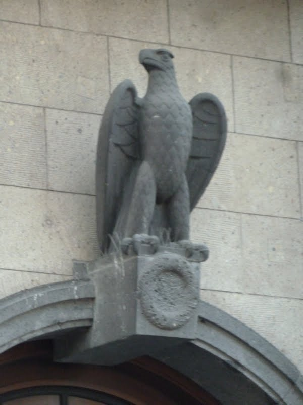 The eagle or Partei Adler above the entrance