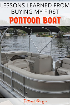 my first pontoon boat on a lake