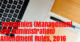 Companies-Management-and-Administration-Amendment-Rules-2016