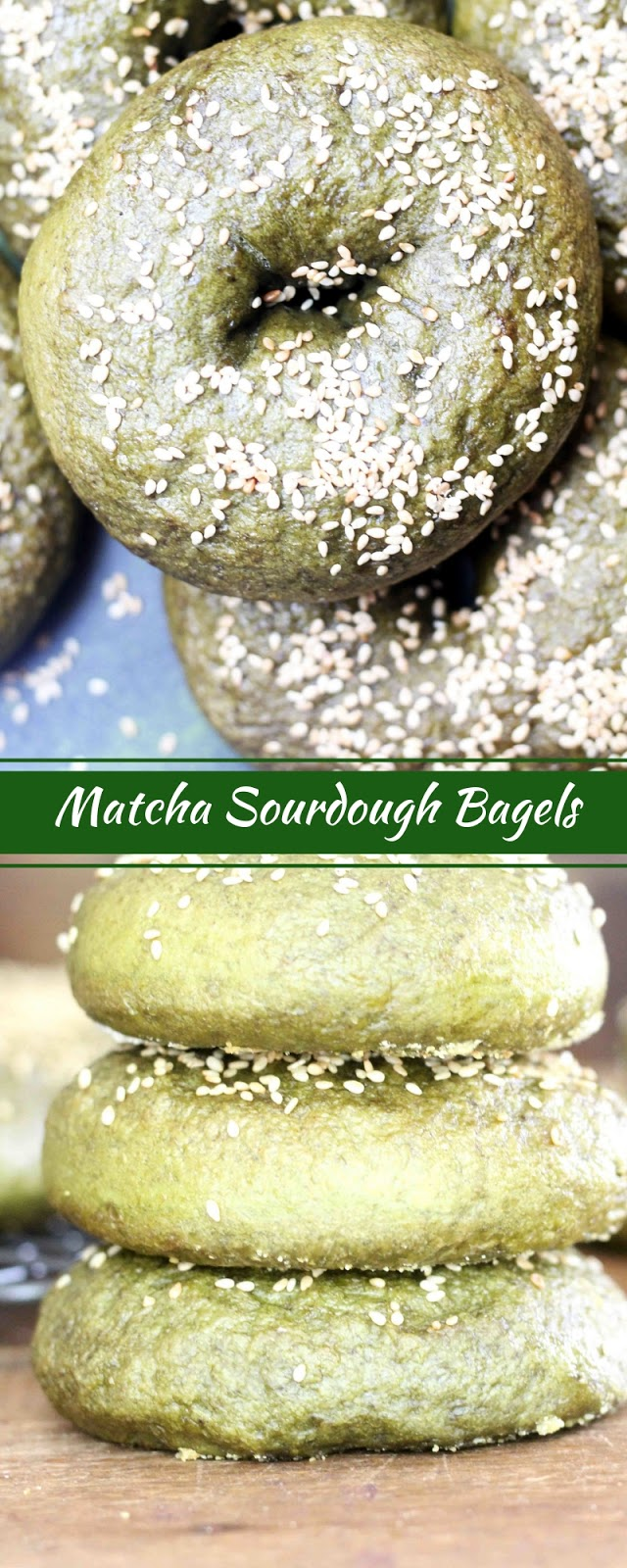 Matcha Sourdough Bagels