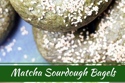 Matcha Sourdough Bagels