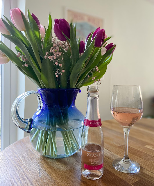 flowers and bubbly