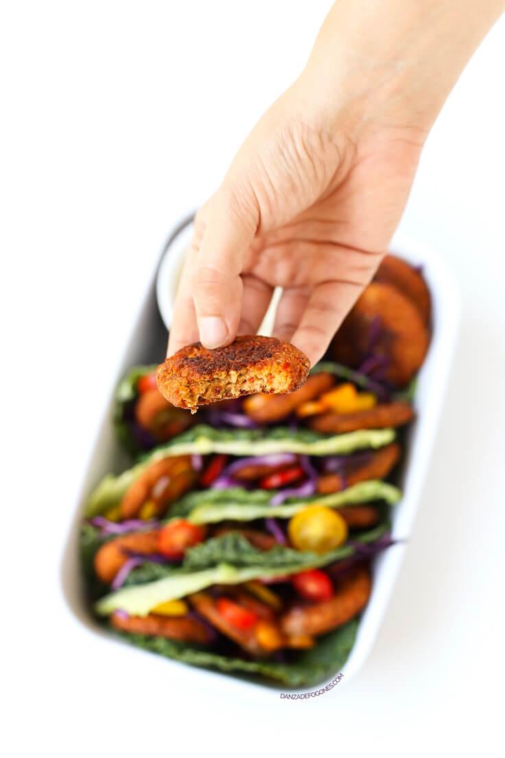 Baked Falafel Recipe   danceofstoves.com #vegan