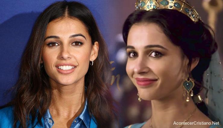 "Actriz Naomi Scott de ""Aladdin"""