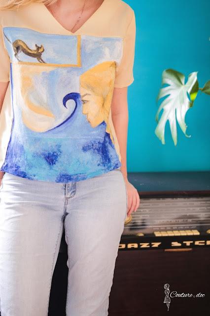 malowana bluzka