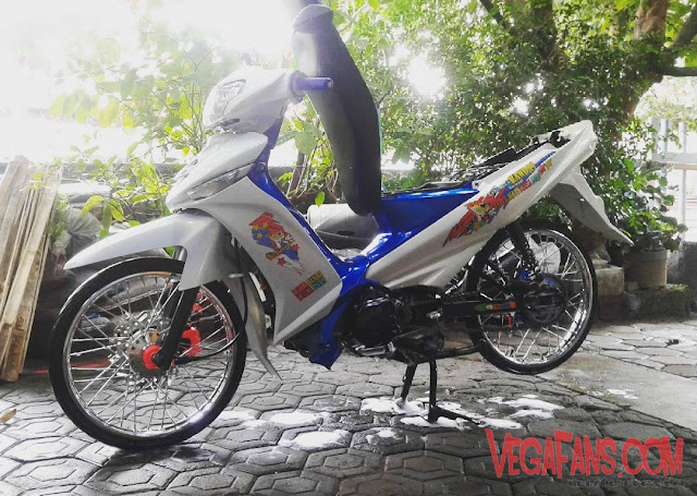Vega ZR Modif Simple Putih Ban Cacing
