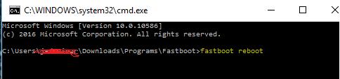 fasboot reboot