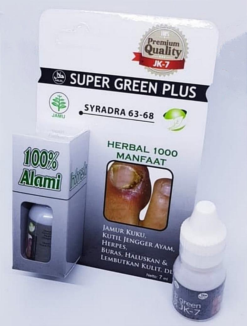jual obat cantengan kuku jari kaki bengkak super green plus jk-7 di surabaya