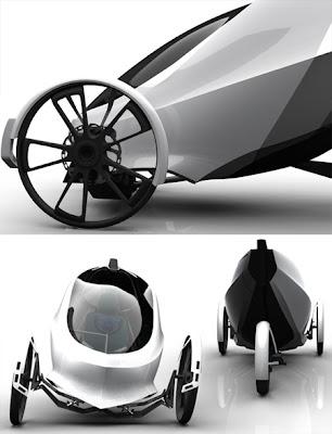 Vehículo personal transporte eléctrico alternativo.