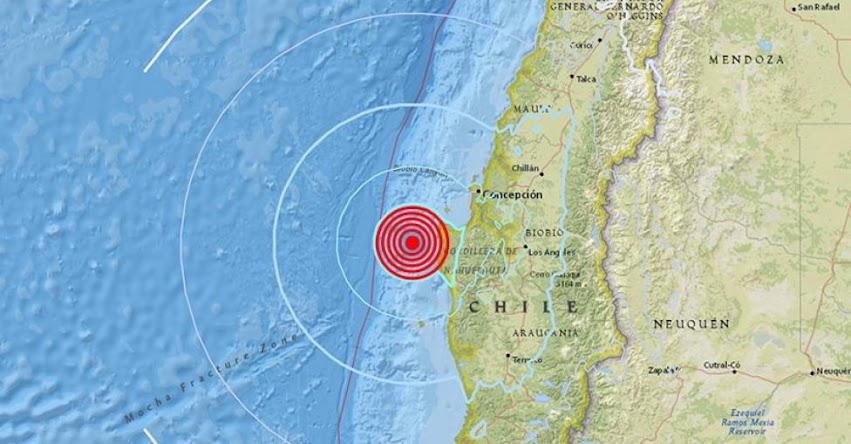 TEMBLOR EN CHILE: Sismo de magnitud 5.6 (Hoy Jueves 8 Febrero 2018) Terremoto EPICENTRO Lebú - Biobío - ONEMI - www.onemi.cl