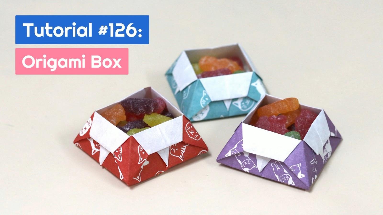 DIY Origami Advent Calendar Box Tutorial - Paper Kawaii - YouTube | 900x1600