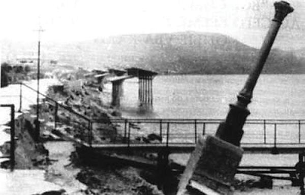 Коктебельская набережная после шторма, 1967 г.