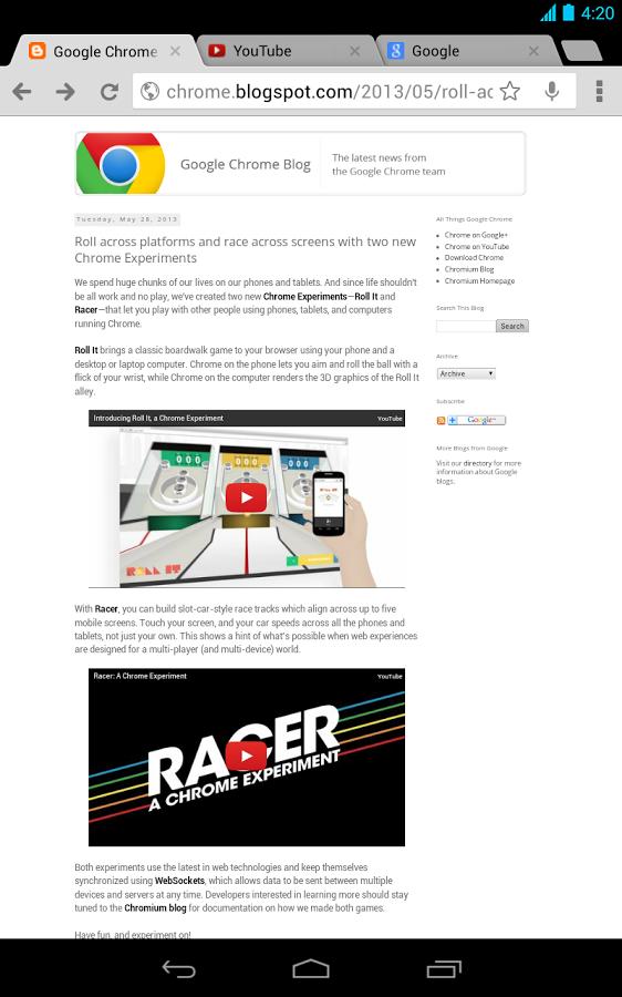 New tab chrome android apk