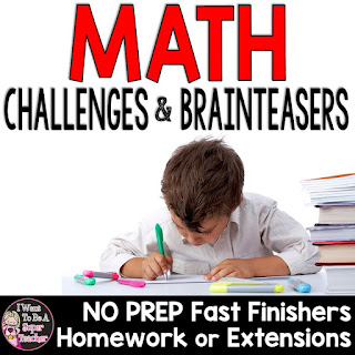 https://www.teacherspayteachers.com/Product/Math-Challenges-Brainteasers-Perfect-Fast-Finishers-Homework-Extensions-1287275
