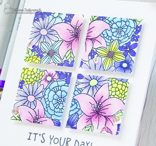 It's Your Day Card by Tatiana Trafimovich | Birthday Essentials and Blooming Botanicals Stamp Sets by Newton's Nook Designs #newtonsnook #handmade