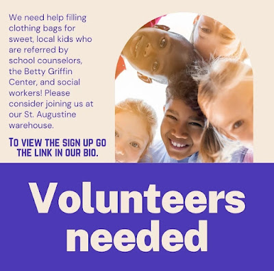 Hugs St. Johns volunteers needed