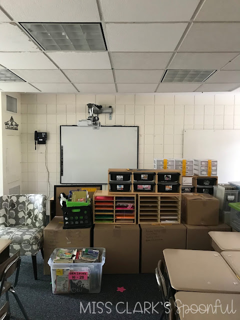 packed up classroom
