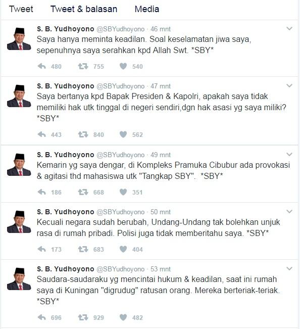 Berita Heboh! Rumah Disatroni Mahasiswa, SBY Minta Keadilan Lewat Twitter