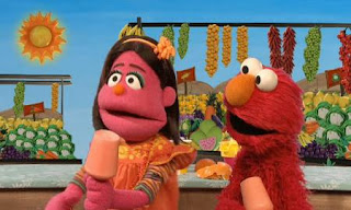 Elmo and Pilar finally manage to make a new popsicle. Melon popsicles. Sesame Street C is for Cooking