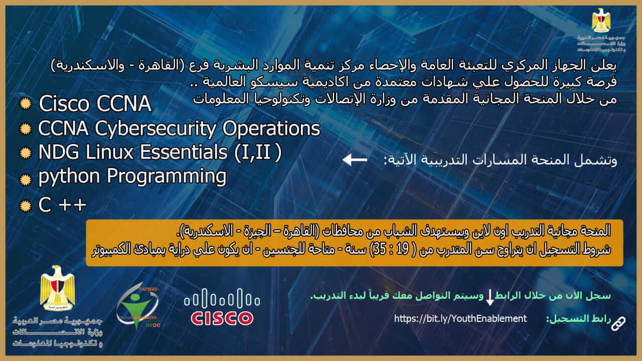 منحة وزارة الاتصالات وتكنولوجيا المعلومات لتمكين الشباب للعمل المهني الحر