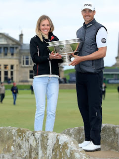 Victor Perez With His Girlfriend Abigail Gliksten After Winning The Alfred Dunhill Links Championship